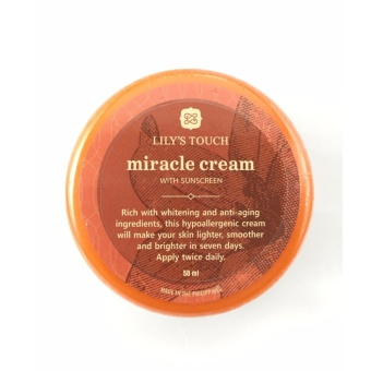 Lily's Touch Miracle Cream 50ml with FREE 1 Sachet of GLUTA LIPO Whitening and Slimming Juice
