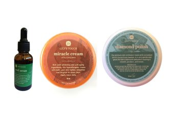 Lily's Touch SET of Snail Serum 30ml + Miracle Cream 50ml + DiamondPolish 50ml with FREE 1 Sachet Lishou Slimming Coffee