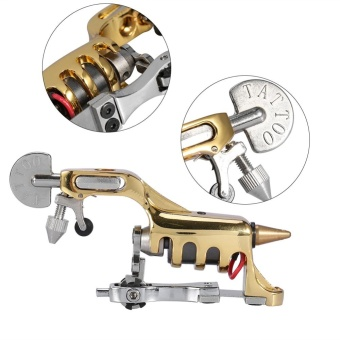 Liner Shader Rotary Tattoo Machine Coloring Lining Permanent Makeup Tool Gold - intl