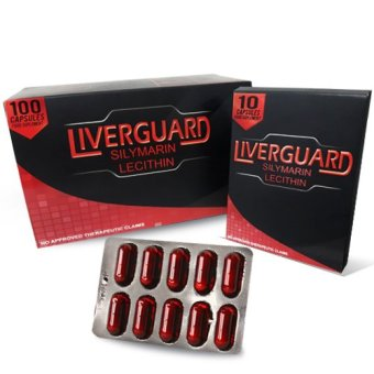 Liverguard Silymarin + Lecithin 500mg Food Supplement Box of 100 Capsules