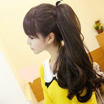 Long Curly Girl Big Wavy Ponytail Wigs Pony Hair HairpieceExtension Hot - 2