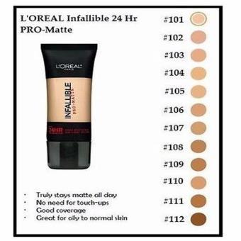 L'Oreal Infallible Pro-Matte 24HR (105 Natural Beige) - 2