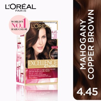 L'Oreal Paris Excellence Creme Hair Color 14g (No.4 .45 MahoganyCopper Brown) Price Philippines