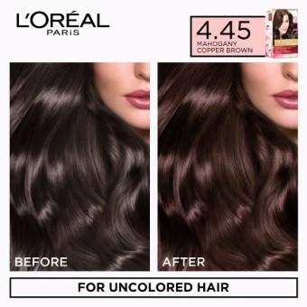 L'Oreal Paris Excellence Creme Hair Color 14g (No.4 .45 MahoganyCopper Brown) - 2