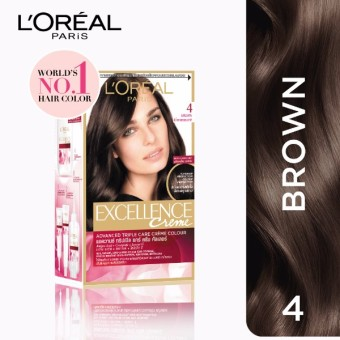 L'Oreal Paris Excellence Creme Hair Color 14g (No.4 Brown) Price Philippines
