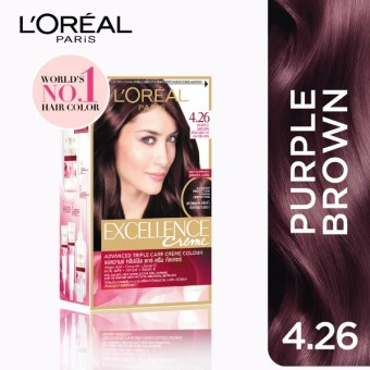 L'Oreal Paris Excellence Creme Hair Color 14g (No.4.26 PurpleBrown) Price Philippines