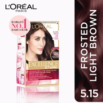 L'Oreal Paris Excellence Creme Hair Color 14g (No.5.15 FrostedLight Brown) Price Philippines