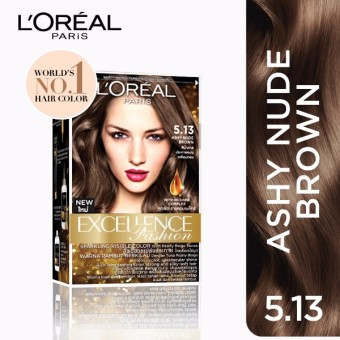L'Oreal Paris Excellence Fashion Hair Color 14g (No.5.13 Ashy NudeBrown) Price Philippines