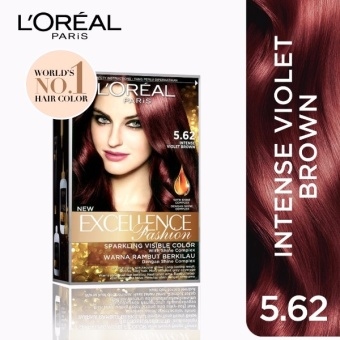L'Oreal Paris Excellence Fashion Hair Color 14g (No.5.62 IntenseViolet Brown) Price Philippines