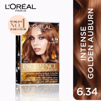 L'Oreal Paris Excellence Fashion Hair Color 14g (No.6.34 IntenseGolden Auburn) Price Philippines