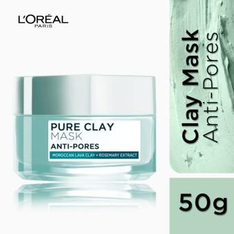 L'Oreal Paris Pure Clay Mask - Anti-Pores (Mint Green) 50mL