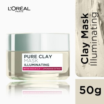 L'Oreal Paris Pure Clay Mask - Illuminating (Pink) 50mL