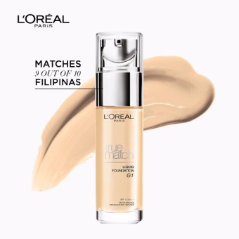 L'Oreal Paris True Match Liquid Foundation 30ml (G1 Rose GoldIvory)