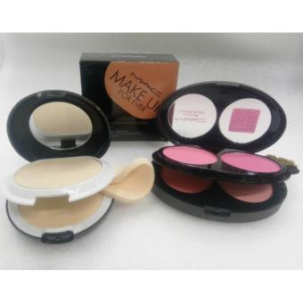 Mac 4 color Blush On With Mac Make Up For Ever 2in1 Powder Set Of 2