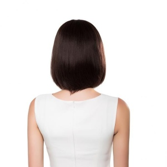 MagiDeal Natural Black Straight Bob 100% Human Hair Wigs with Cap for Women 14 inch - intl - 2