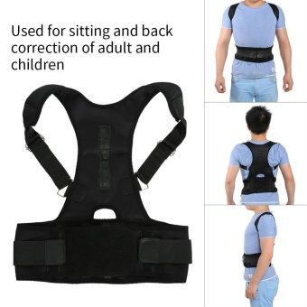 Magnetic Back Shoulder Lumbar Corrector Support Posture Correction Belt(XL) - intl