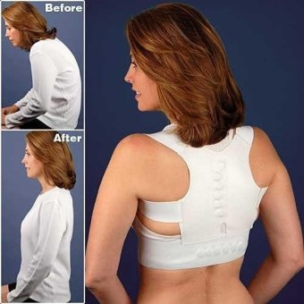 Magnetic Back Shoulder Posture Support Corrector Brace Belt for Student Prevent Myopia - intl Price Philippines