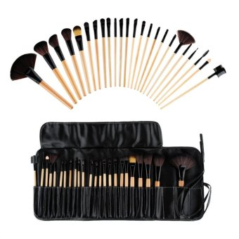 Make-up For You Premium Kabuki Makeup Brush Set CosmeticsFoundation blending blush 24pcs set Beige