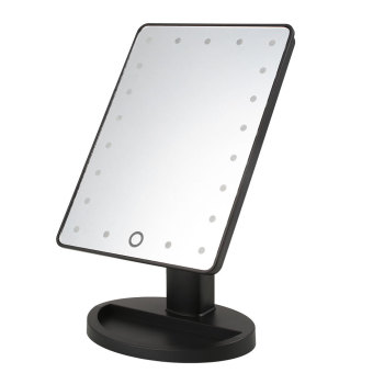 Make Up Vanity Illuminated Desktop Table Makeup Stand Mirror with 21 LED Light