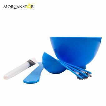 Makeup Beauty DIY Facial Face Mask Bowl Brush Spoon Stick Tool Set(Blue) - 2