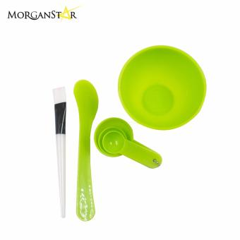 Makeup Beauty DIY Facial Face Mask Bowl Brush Spoon Stick Tool Set(Green)