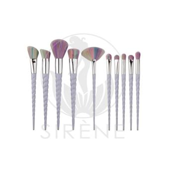 Makeup Brush Set Unicorn Make Up Brush Set Portable Makeup Foundation Concealer Brush Tool Set 10 Pieces Set