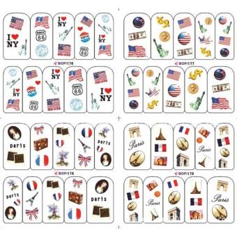 Manicure Watermark Stickers DIY 4 In 1 Style 14