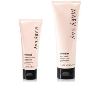Mary Kay Timewise Skin Care Basic Set Combination to Oily (3-in-1Cleanser and Age Fighting Moisturizer)