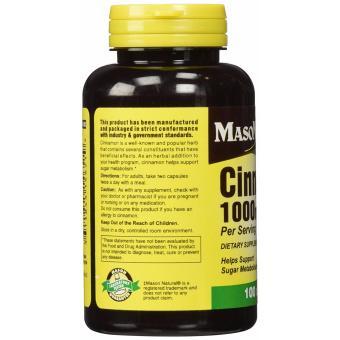 Mason Cinnamon 1000 mg 100 Capsules - 4