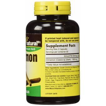 Mason Cinnamon 1000 mg 100 Capsules - 2