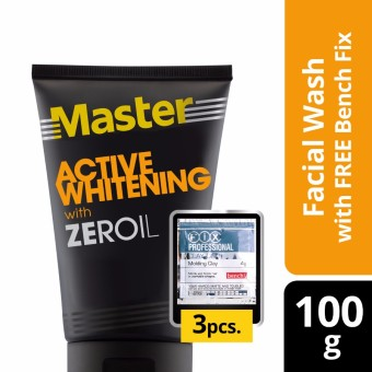 Master Facial Wash Active Whitening 100g with Free Bench Clay Doh