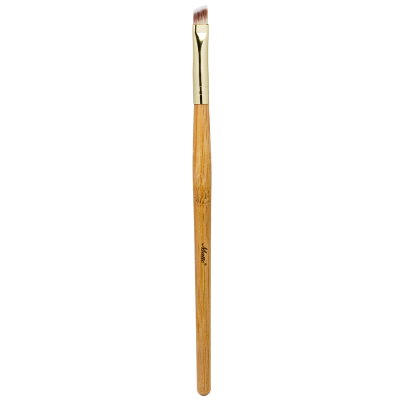 Matto Bamboo Eyebrow Makeup Brush Angled Detailer Eye Liner Eyebrow Brush Make Up Tools 1pcs (Yellow) - Intl
