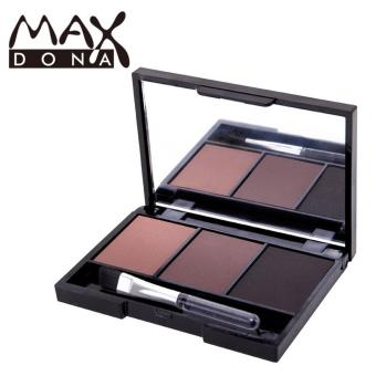 Maxdona 3 Color Eyebrow Powder Palette Cosmetic Makeup Shading Brush Mirror Box Brow #3