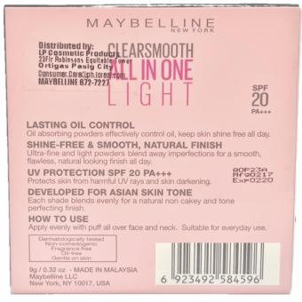 Maybelline Clear Smooth Face Powder Honey 9g - 2