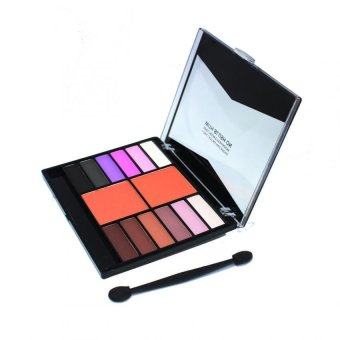 Meiya 12 Color Eye Shadow with 2 Color Blush On 03