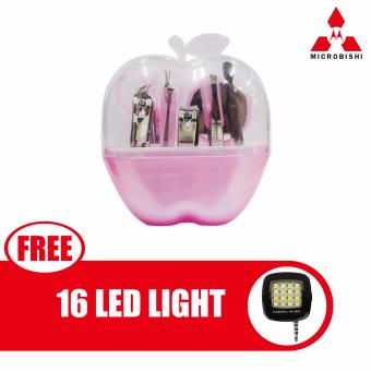 Microbishi Manicure Set 9 in 1 (Pink) with free 16 Led Mini SelfieLed Light (Color May Vary) Price Philippines