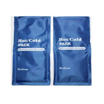 Microwaveable Hot and Cold Reusable Gel Pack (Blue) Set of 2