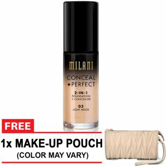 Milani Conceal + Perfect 2-in-1 Foundation + Concealer (LightBeige)