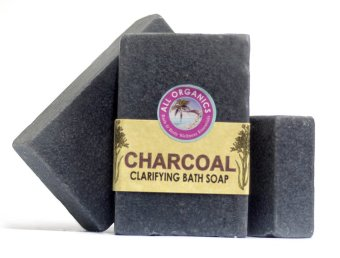 Milea Organic Charcoal Clarifying and Detoxifying Soap 100g Set of 3