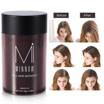Minnow Baldness Concealer Hair Treatments Thickening Hair Fibers Powder Dark Brown - intl