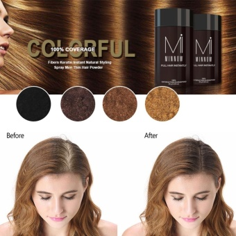 Minnow Baldness Concealer Thickening Hair Treatments Building Fibers Powder Black - intl