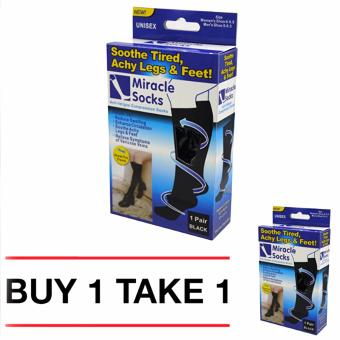Miracle Socks Anti-Fatigue Compression Socks (Black) BUY 1 TAKE 1