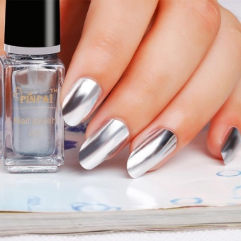 Mirror Nail Polish Plating Silver Paste Metal Color Stainless SteelA - intl Price Philippines