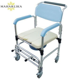 MK All new High quality Adult Commode Chair with Chamber PotKDB-697L (Blue)