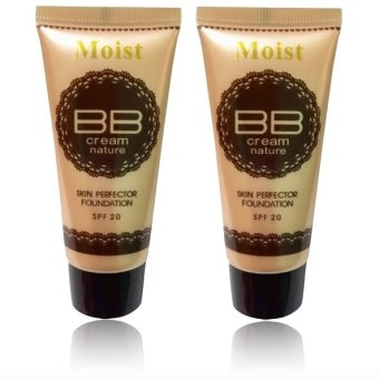 Moist BB Cream Nature Skin Foundation 40g set of 2