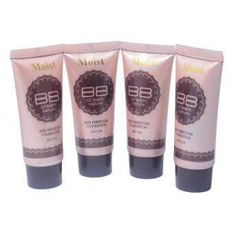 Moist BB Cream Skin Perfector Foundation with SPF20 for Unisex Set of 4