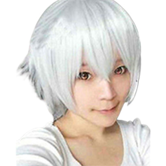 Moonar Heat Resisitant Short Straight Cosplay Party Wigs (White) Price Philippines