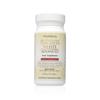Mosbeau Placenta White Advanced Supplement 650mg Bottle of 120Tablets