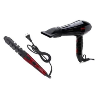 Mozer Super Professional Hair Dryer (Black) With Nova NHC-2007AHair Curler