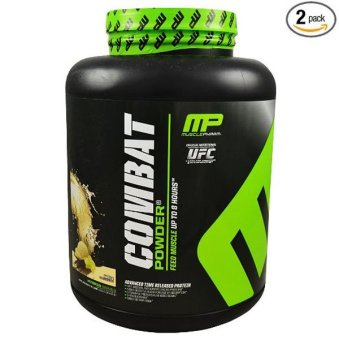 Muscle Pharm Combat Powder Advanced Time Release Protein, 4lbs(Vanilla)